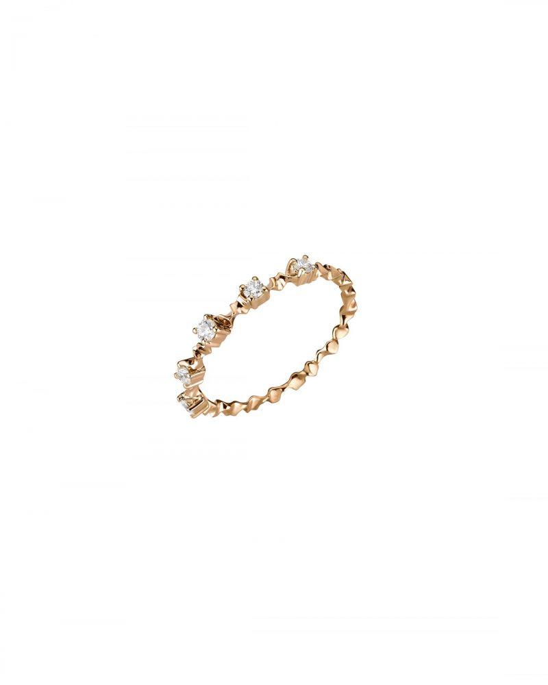 Petite Gold Trim Ring