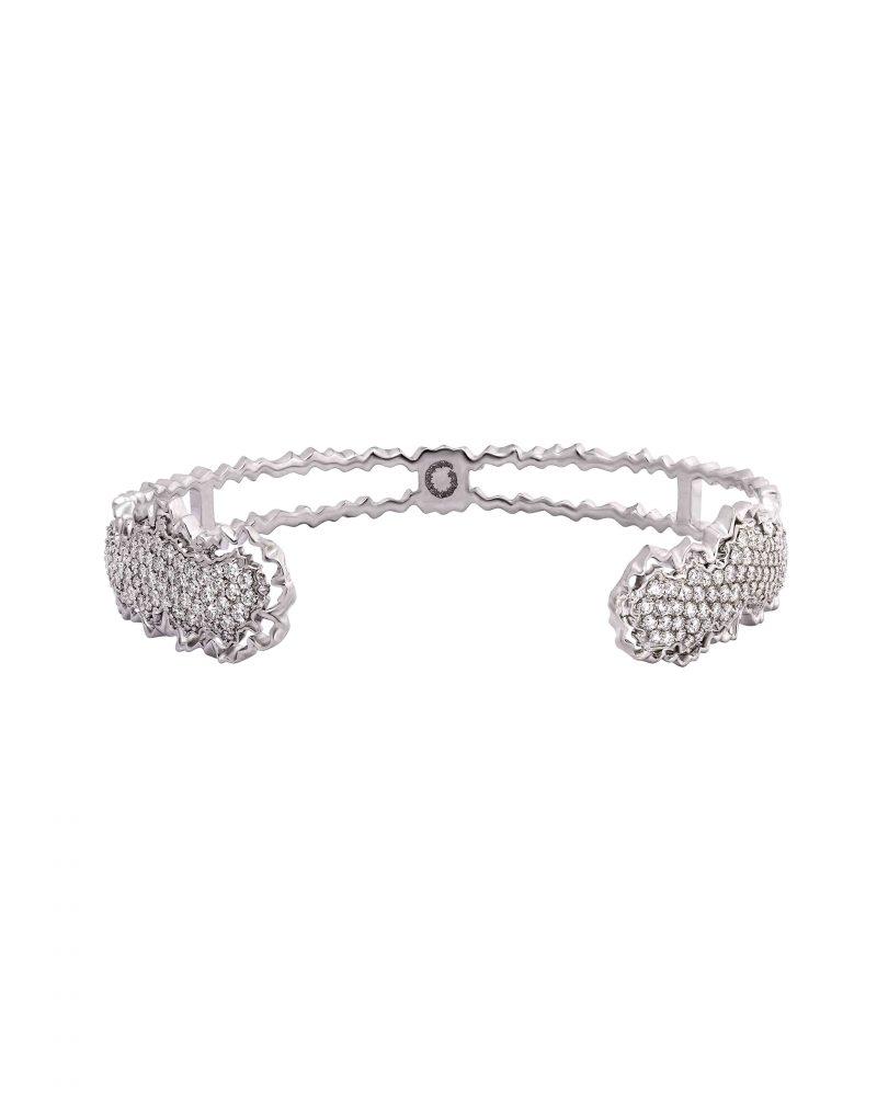 Diamond Cluster Diptych Bangle