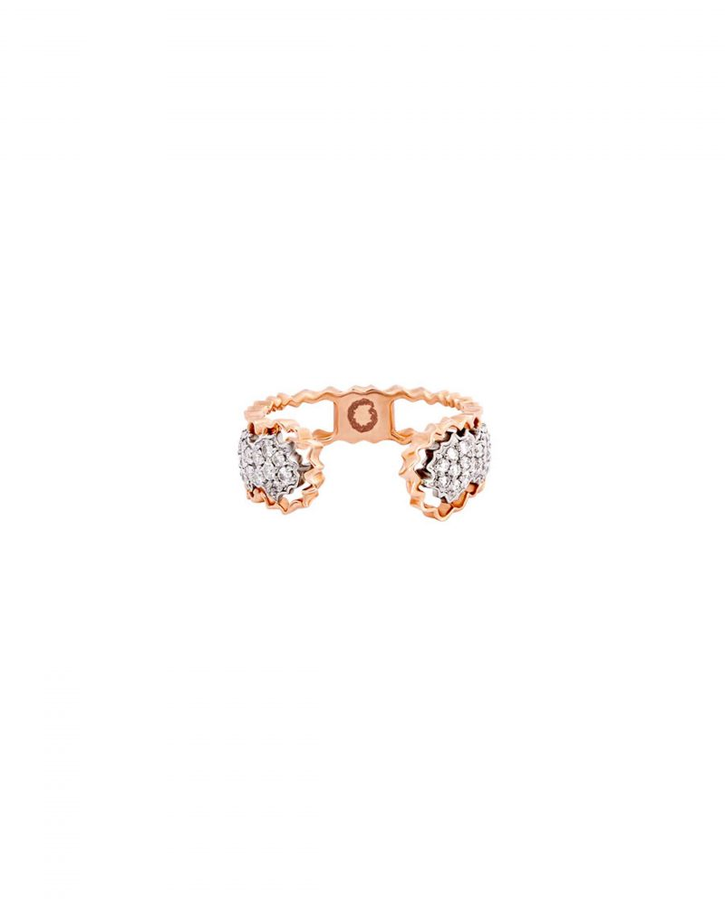 Diamond Cluster Diptych Ring