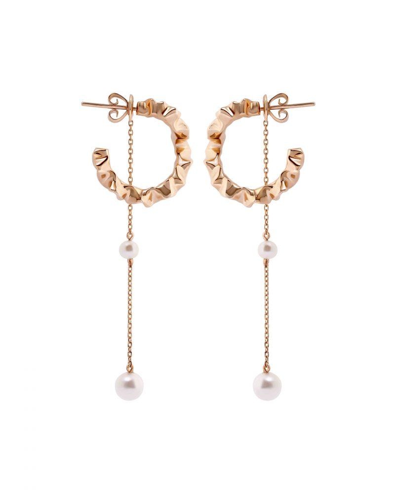 Gold Trim Earring