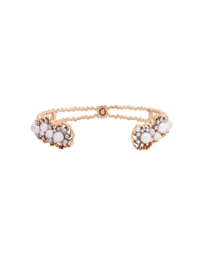Pearl Cluster Diptych Bangle