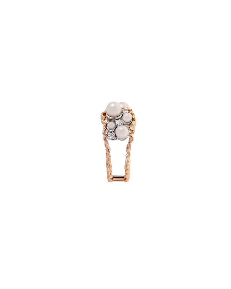Pearl Cluster Diptych Ring