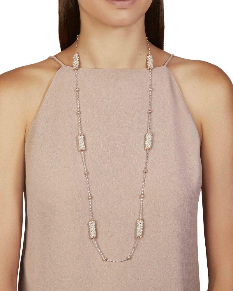 Pearl Cylinder Diamond Chain