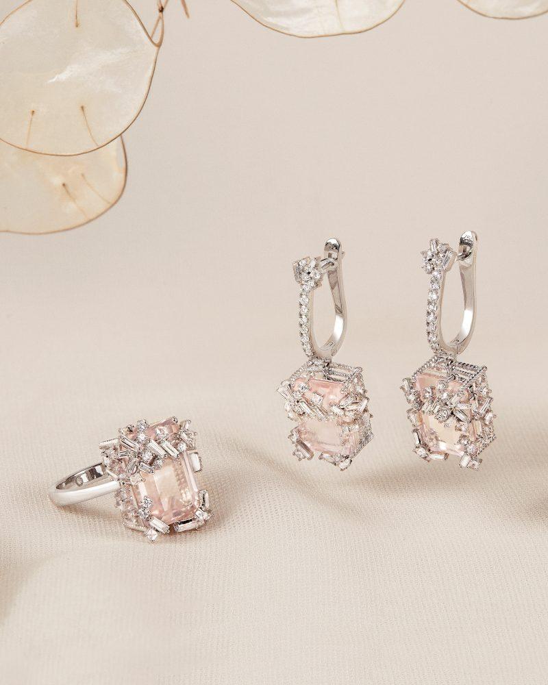 Rose Quartz Earring