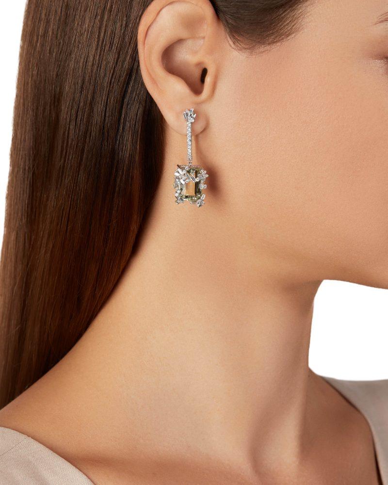 Green Amethyst Earring