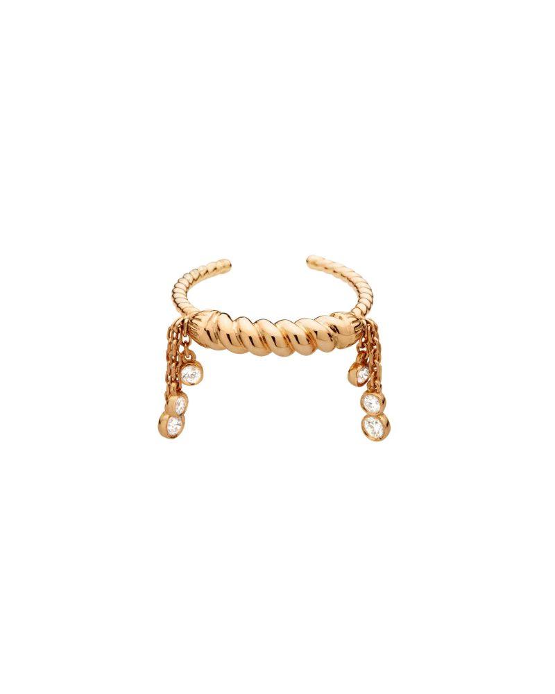 Twirling Tassle Six Diamonds Ring