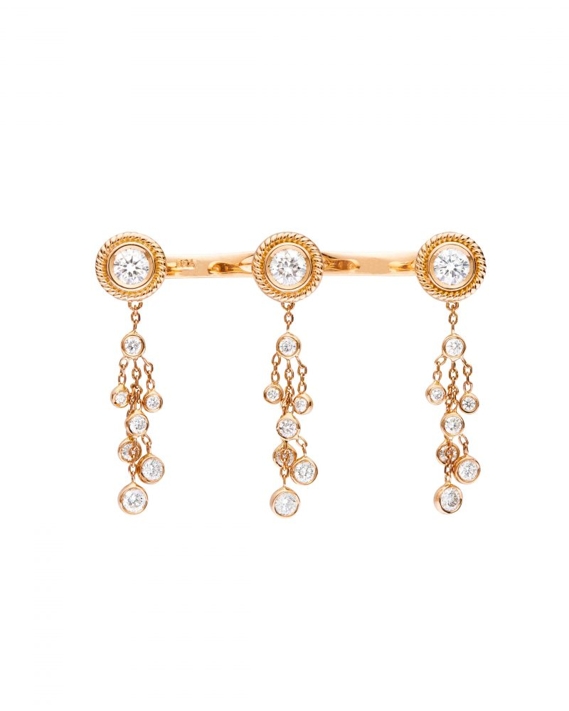 Festive Diamonds Tryptic Ring