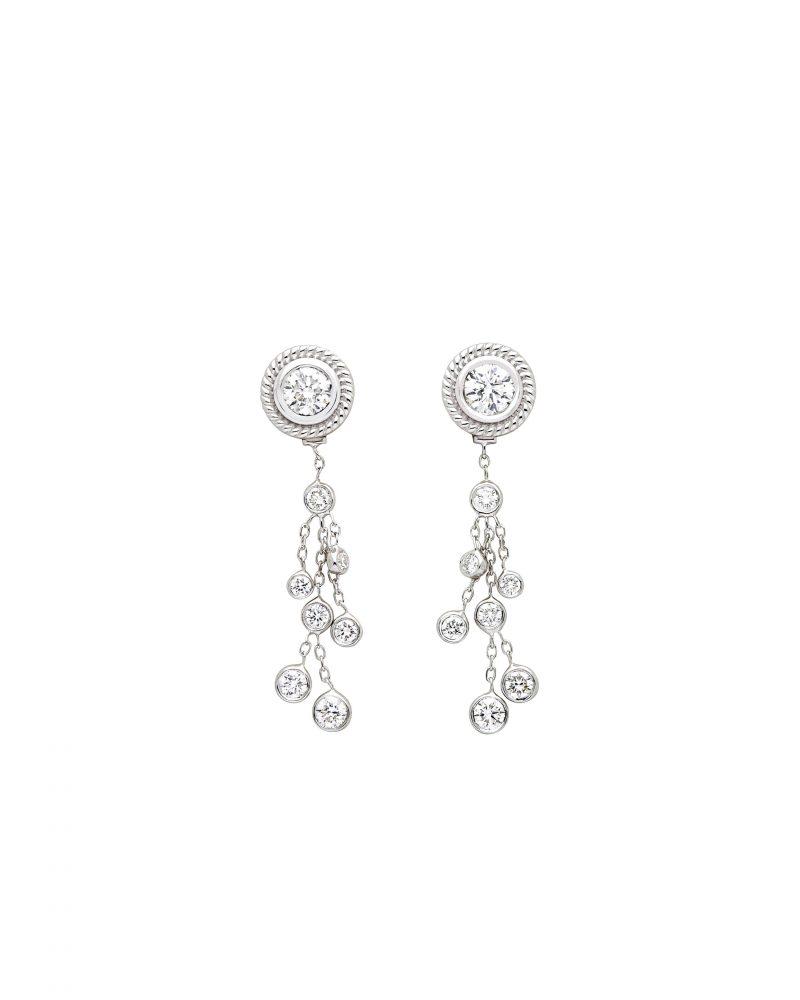 Festive Framed  Diamonds Earring