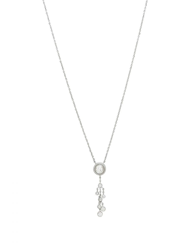 Festive Framed Diamonds Necklace