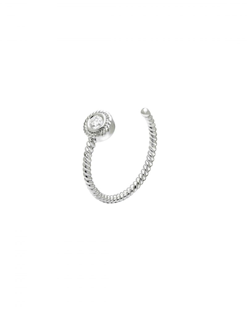 Framed Diamond Diptych Ring