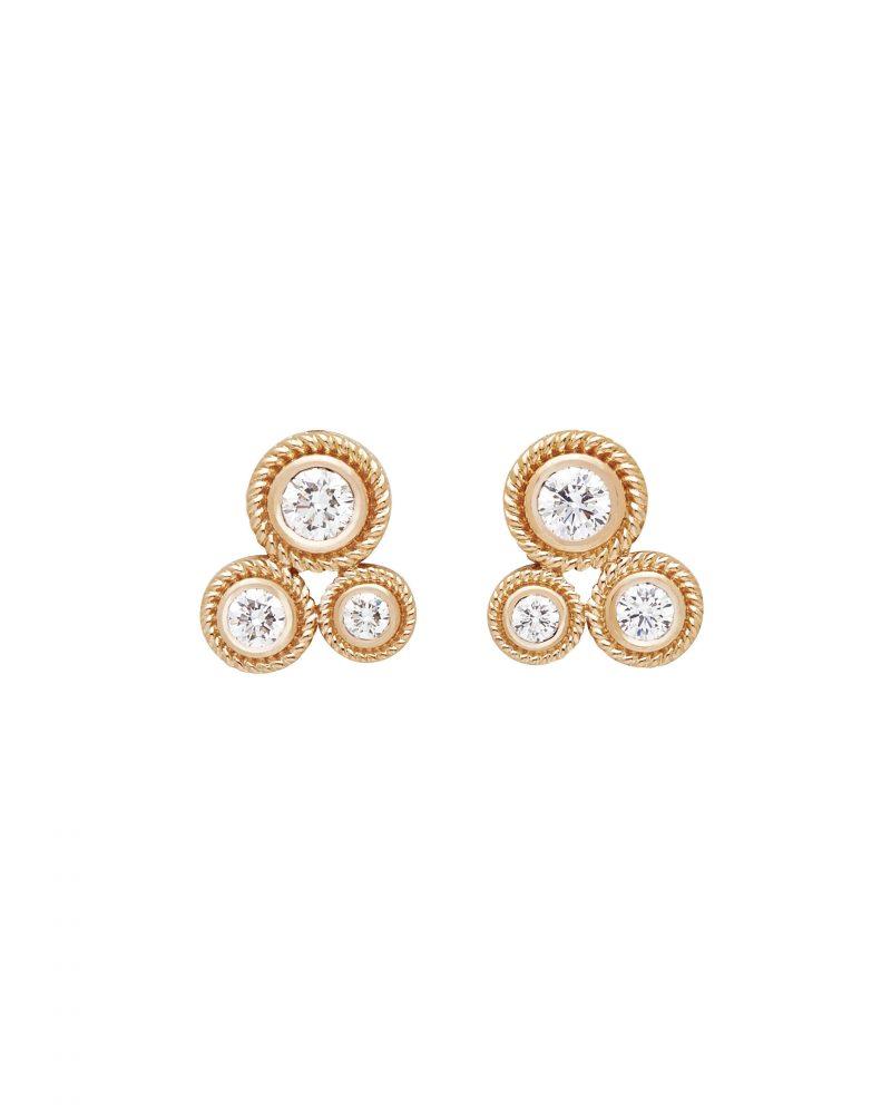 Multi Diamond Earring