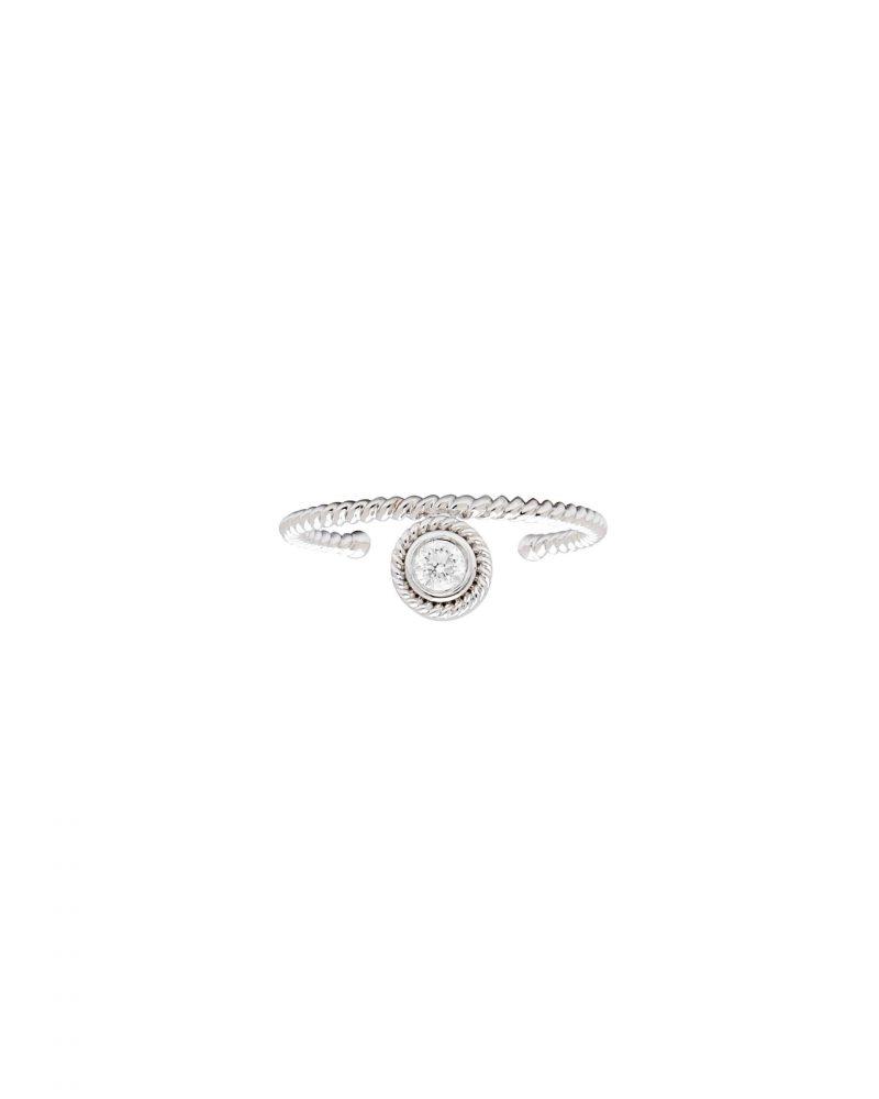 One Diamond Open Ring